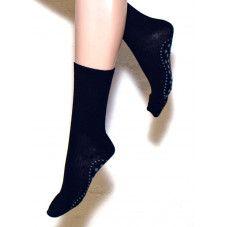 Ulla Black Wool rutschfeste Socken